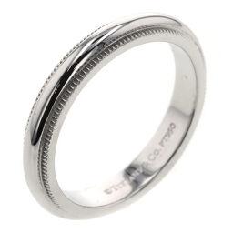 <html>    <body>   ティファニー TIFFANY&amp;Co. ミルグレイン バンド 幅約3mm リング・指輪 プラチナPT950 7.5号 シルバー レディース K10120672        </body> </html>