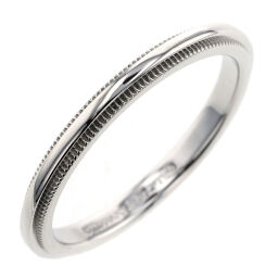 Tiffany TIFFANY & Co. Milgrain Band Width Approximately 2mm Ring / Ring Platinum PT950 12.5 Silver Ladies K10120754