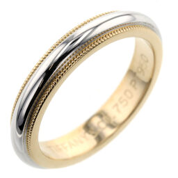 Tiffany TIFFANY & Co. Milgrain Band Width Approx. 3.5mm Ring / Ring Platinum PT950 / K18 Yellow Gold No. 9 Silver Ladies K10120759