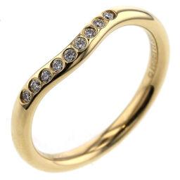 ティファニー TIFFANY&Co. カーブドバンド 9P 幅約2mm リング・指輪  K18イエローゴールド ダイヤモンド 7.5号 ゴールド レディース K10120802