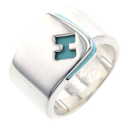 Hermes HERMES Candy H Logo Ring / Ring Silver 925 / Turquoise No. 12 Silver Ladies K10210004