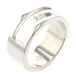Gucci GUCCI Branded G Width approx. 8mm Ring / Ring Silver 925 11.5 Silver Ladies K10223225