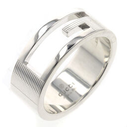 Gucci GUCCI Branded G Width approx. 8mm Ring / Ring Silver 925 No. 17 Silver Men's K10302248