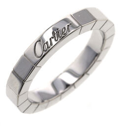 Cartier CARTIER Lanier Width approx. 3mm Ring / Ring K18 White Gold No. 8 Silver Ladies K10305348