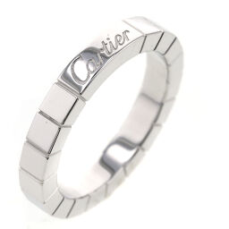 Cartier CARTIER Lanier Width approx. 3mm Ring / Ring B4045000 K18 White Gold No. 10 Silver Ladies K10309291