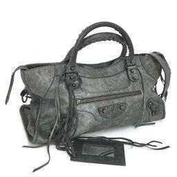 Balenciaga BALENCIAGA Shoulder 2WAY Part Time Handbag 168028 Leather Gray Ladies K10316293