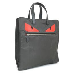FENDI FENDI Monster Bugs Tote Bag 7VA367-2WP Nylon Gray Men's K10316294