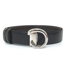 Cartier CARTIER Panther Belt Leather Black Men's K10316555