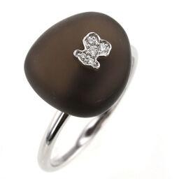 Tous TOUS Button Design Bear Diamond 5P Ring / Ring K18 White Gold / Diamond Diamond No. 11.5 Silver Ladies K10317423