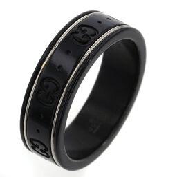 <html>    <body>   グッチ GUCCI アイコン 幅約7mm リング・指輪 黒セラミック/K18ホワイトゴールド 21号 ブラック メンズ K10326870        </body> </html>