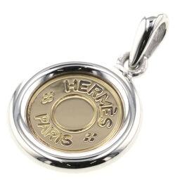 Hermes HERMES Serie Pendant Top Silver 925 / K18 Yellow Gold Silver Ladies K10406967