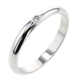 Cartier CARTIER 1895 Wedding 1P Width approx. 2.6mm Ring / Ring B4057700 Platinum PT950 / Diamond Diamond No. 13 Silver Ladies K10407125