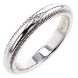 <html>    <body>   ティファニー TIFFANY&amp;Co. ミルグレインバンド 幅約3mm 1P リング・指輪 プラチナPT950/ダイヤモンド ダイヤモンド 6号 シルバー レディース K10407127        </body> </html>