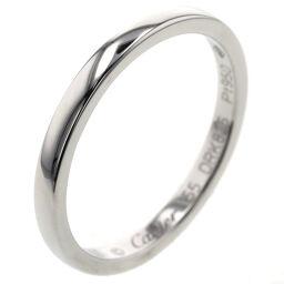 Cartier CARTIER Ballerina Wedding Width approx. 2mm Ring / Ring B4071900 Platinum PT950 No. 15 Silver Men's K10407148
