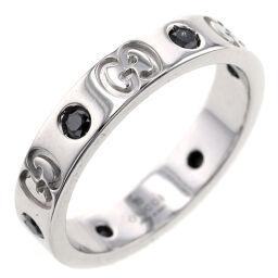 Gucci GUCCI Icon 6P Ring / Ring K18 White Gold / Black Diamond Black Diamond No. 11 Ladies K10407173