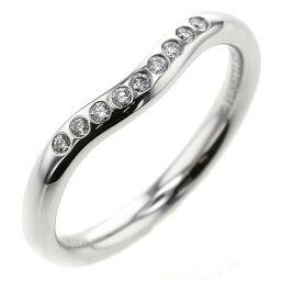 <html>    <body>   ティファニー TIFFANY&amp;Co. カーブドバンド 9P 幅約2mm リング・指輪 プラチナPT950/ダイヤモンド ダイヤモンド 7.5号 シルバー レディース K10407187        </body> </html>