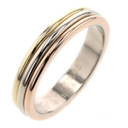 Cartier CARTIER Three Color Width Approximately 4mm Ring / Ring K18 White Gold / K18 Yellow Gold / K18 Pink Gold No. 12 Gold Ladies K10407196