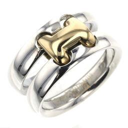 <html>    <body>   エルメス HERMES オランプ コンビ リング・指輪 シルバー925/K18イエローゴールド 10号 シルバー レディース K10414257        </body> </html>