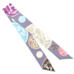 Hermes HERMES Twilly Tagged Scarf 100% Silk Purple Ladies K10414320