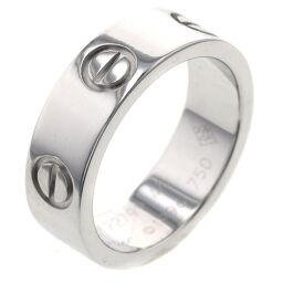 <html>    <body>   カルティエ CARTIER ラブ 幅約5.5mm リング・指輪 B4084700 K18ホワイトゴールド 7.5号 シルバー レディース K10414329        </body> </html>