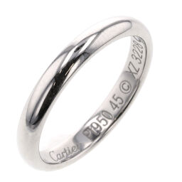 Cartier CARTIER 1895 Wedding Width Approximately 2.5mm Ring / Ring B4012500 Platinum PT950 No. 5 Silver Ladies K10414333