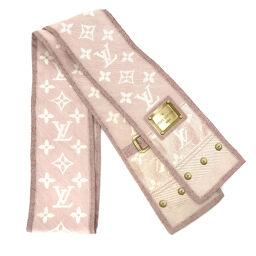 Louis Vuitton LOUIS VUITTON Twilly Ribbon Monogram Tagless Scarf Silk Pink Ladies K10414367