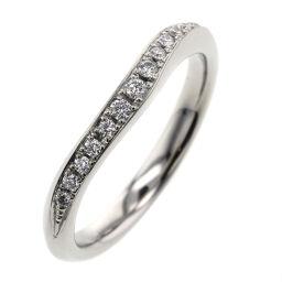 Lazar Diamond LAZARE DIAMOND Crescent D0.09ct 13P Ring / Ring Platinum PT950 / Diamond Diamond 0.09ct No. 7 Silver Ladies K10421471