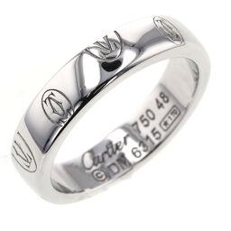 <html>    <body>   カルティエ CARTIER ハッピーバースデー スモール 幅約4mm リング・指輪 B4050900 K18ホワイトゴールド 8号 シルバー レディース K10428606        </body> </html>