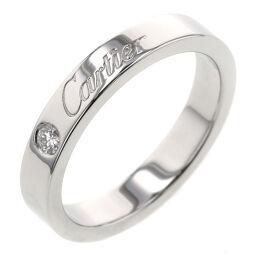 <html>    <body>   カルティエ CARTIER エングレーブド 1P リング・指輪 プラチナPT950/ダイヤモンド ダイヤモンド 7号 シルバー レディース K10428607        </body> </html>