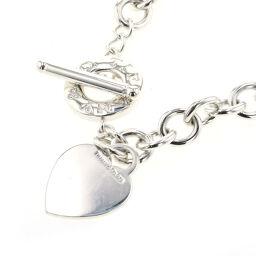 Tiffany TIFFANY & Co. Heart Tag Toggle Choker Necklace Silver 925 Silver Ladies K10504714