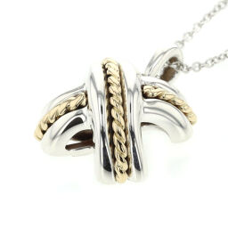 Tiffany TIFFANY & Co. Signature Combination Necklace Silver 925 / K18 Yellow Gold Silver Ladies K10518012