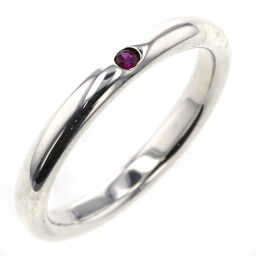 Tiffany TIFFANY & Co. Stacking Band 1P Width Approx. 2.5mm Ring / Ring Silver 925 / Pink Sapphire Pink Sapphire No. 10 Silver Ladies K10720993