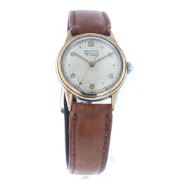 Zenith ZENITH 17 jewels hand-rolled outside band watch stainless steel / leather gold women's K60505697