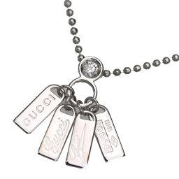 グッチ GUCCI プレート  ネックレス 1ダイヤ  WG750 ダイヤモンド レディース K70713402
