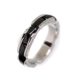 シャネル CHANEL ウルトラ リング・指輪 8号  黒セラミック/750 8号 黒 レディース K70913283