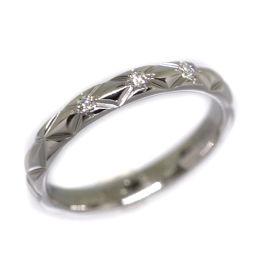 シャネル CHANEL マトラッセ ダイヤモンド 3P リング・指輪 7号  プラチナPT950 ダイヤモンド 7号 シルバー レディース K70913302