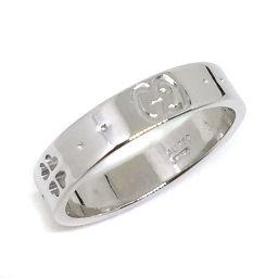 グッチ GUCCI アイコン クローバー リング・指輪  K18ホワイトゴールド 9.5号 ゴールド レディース K71012330