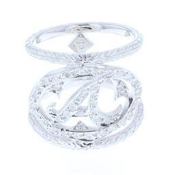 ローリーロドキン Loree Rodkin イニシャルダイヤリング リング・指輪 14号  K18ホワイトゴールド 14号 ユニセックス K71111551