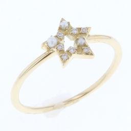 アーカー AHKAH リング・指輪  K18イエローゴールド/パール/ダイヤモンド パール ダイヤモンド 9号 イエロー レディース K80420016
