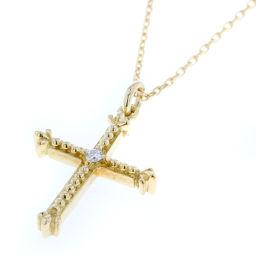 アーカー AHKAH クレオクロス ダイヤモンド 1P ネックレス  K18イエローゴールド/ダイヤモンド ダイヤモンド ゴールド レディース K80613135