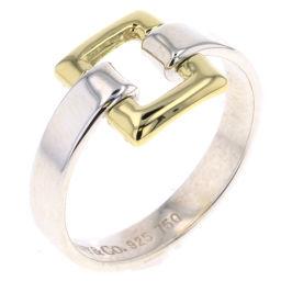 ティファニー TIFFANY&Co. コンビ スクエア リング・指輪 ヴィンテージ  シルバー925/K18イエローゴールド 10号 シルバー レディース K80713385