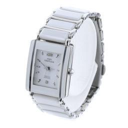 テクノス TECHNOS クォーツ TAL742 腕時計 TAL-742  SS/ホワイトセラミック/サファイア クリスタルガラス ホワイト レディース K80914490