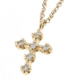 アガタ AGATHA クロス ダイヤモンド 0.06ct ネックレス  K10イエローゴールド/ダイヤモンド ダイヤモンド0.06ct ゴールド レディース K80923905
