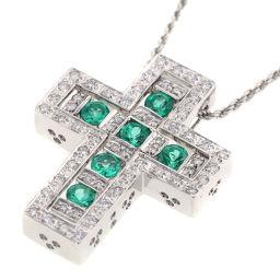 ダミアーニ Damiani ベルエポック エメラルド ダイヤ Mサイズ ネックレス  K18ホワイトゴールド/エメラルド/ダイヤモンド エメラルド ダイヤモンド グリーン レディース K81017175