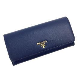 プラダ PRADA サフィアーノ パスケース付 二つ折り財布 1MH132 SAFFIANO METAL  サフィアーノレザー BLUETTE ブルー レディース K81023294