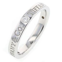 ティファニー TIFFANY&Co. フラットバンド 3P リング・指輪  プラチナPT950/ダイヤモンド 10号 シルバー レディース K81023358