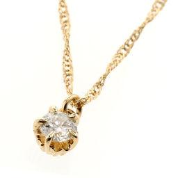 アガット agete 0.1ct ネックレス  K18イエローゴールド/ダイヤモンド ダイヤモンド0.1ct ゴールド レディース K81023424