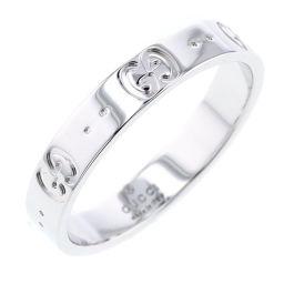 グッチ GUCCI GG アイコン リング・指輪  K18ホワイトゴールド 19.5号 メンズ K81031452
