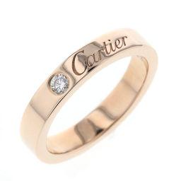 カルティエ CARTIER エングレーブド 1P 4号 リング・指輪  K18ピンクゴールド/ダイヤモンド ダイヤモンド 4号 ゴールド レディース K81031468