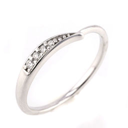 Ete ete Twist 4.5 No. 0.02ct Ring / Ring K18 White Gold / Diamond Diamond 0.02ct No. 4.5 Silver Women's K81123597